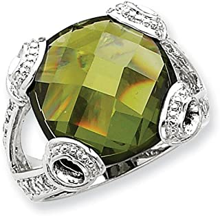 925 Sterling Silver Green Cubic Zirconia Cz Band Ring Fine Jewelry Gifts For Women For Her