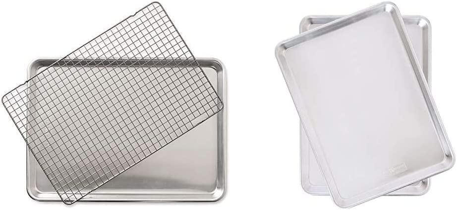 Nordic Ware Half Sheet with Oven Piece Set Nonstick Safe Grid Manufacturer OFFicial shop 1 year warranty 2