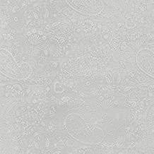 white on white paisley fabric