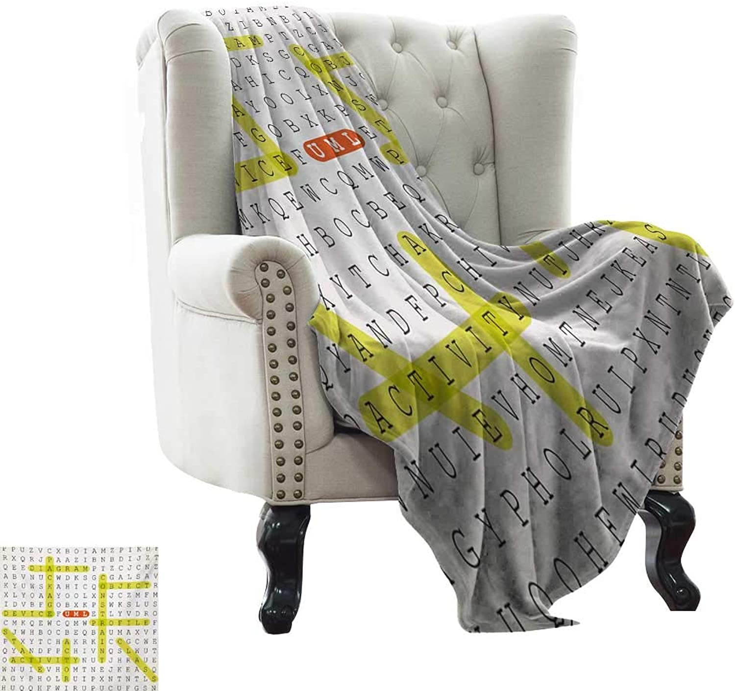 LsWOW Chunky Knit Blanket Word Search Search Search Puzzle