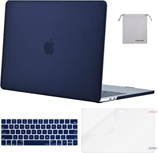 MOSISO MacBook Pro 13 inch Case 2019 2018 2017 2016 Release A2159 A1989 A1706 A1708, Plastic Hard Shell Case&Keyboard Cover&Screen Protector&Storage Bag Compatible with MacBook Pro 13, Navy Blue