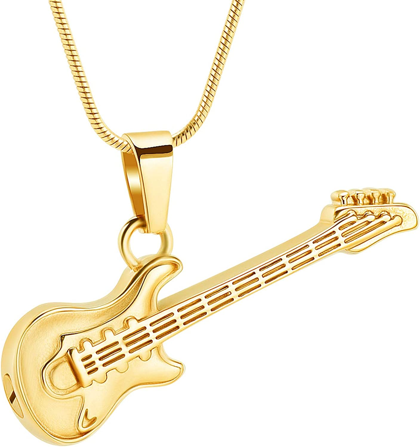 zeqingjw Electronic Guitar Cremation Jewelry Urn Pendant for Ashes Music Instrument Memorial Ashes Necklace Keepsake Jewelry