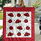 Coelima TENAIKI Ladybug Throw Blanket Ultra Soft Fleece Blanket Flannel Light Weight All Season Living Room/Bedroom Blanket,Color,50x40 Inch