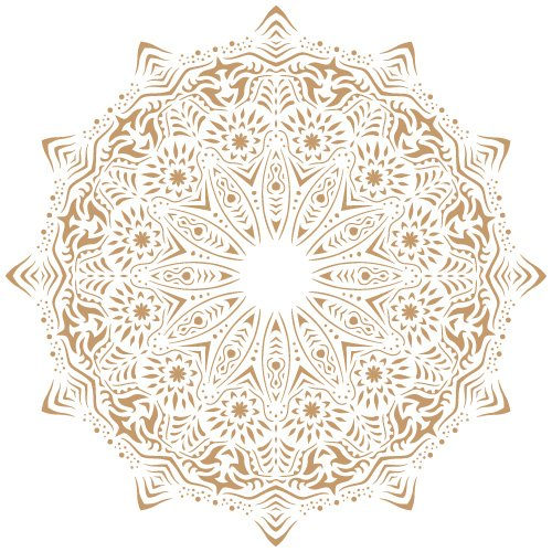 Todo Stencil - Deko-Hintergrund, 113 Mandala, Maße: Schablone 20 x 20 cm - Motiv 18 x 18 cm