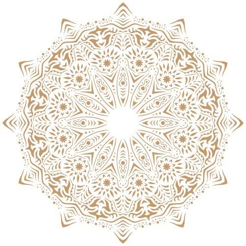 TODO STENCIL Deco Fondo 113 Mandala, Medidas: Stencil 20 x 20 cm - Diseño 18 x 18 cm