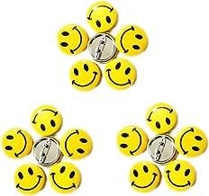 LGEGE 96pcs Mini Metal Smiley Smile Face Button Pins