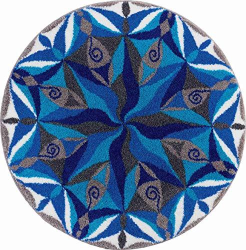Grund FLUIDITY Alfombra de Baño, Poliacrílico Supersoft, Azul, 80 cm