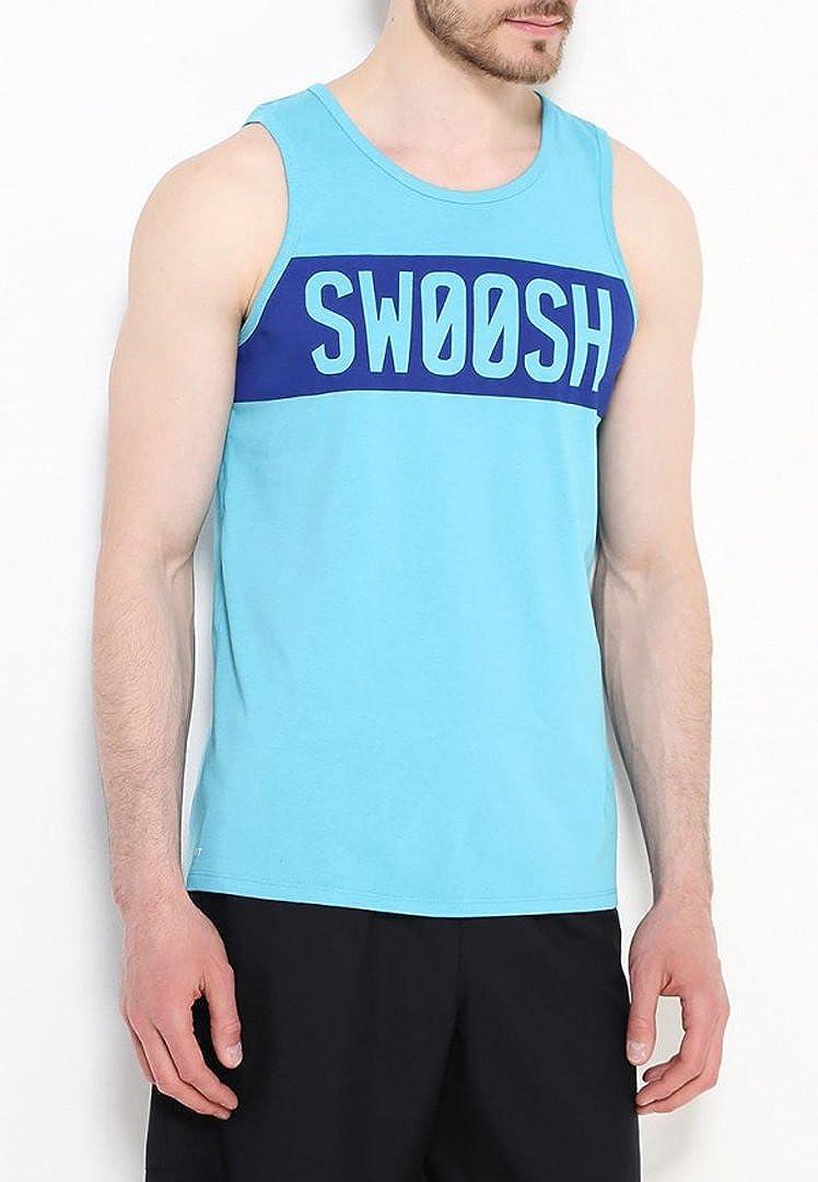 NIKE Dfct Swoosh Block Tank Camiseta sin Mangas Hombre