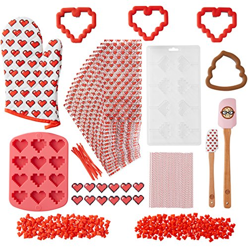 ROSANNA PANSINO by Wilton Bit of My Heart Cookie and Candy Making Kit, 14-Piece - Cookie and Candy Decorating Kit