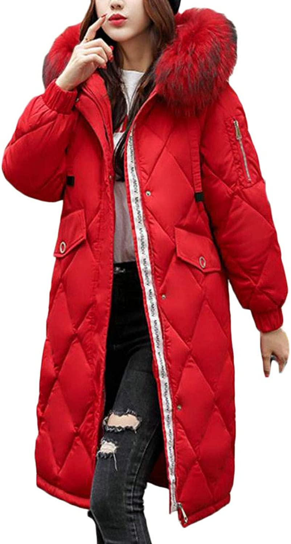 XiaoTianXinWomen XTX Womens Thicken Faux Fur Hooded Winter Quilted Puffer Parka Coat Jacket