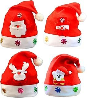 0b7fcc3f389 BESTOYARD Sombreros de Navidad en Forma de Muñeco de Nieve Elk Oso Gorro de Navidad  Gorro