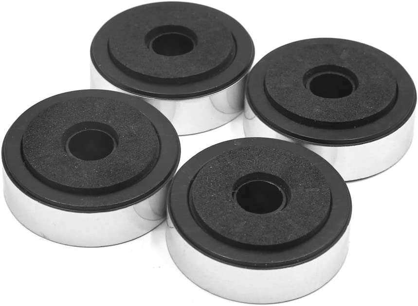 uxcell 4pcs Silver Tone Plastic Feet Amplifier Cheap sale CD Speaker Sale price Player