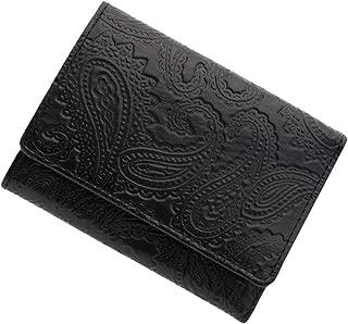 極小財布 スムース ペイズリー型押し ベーシック型小銭入れ BECKER 日本製 ミニ財布/三つ折り