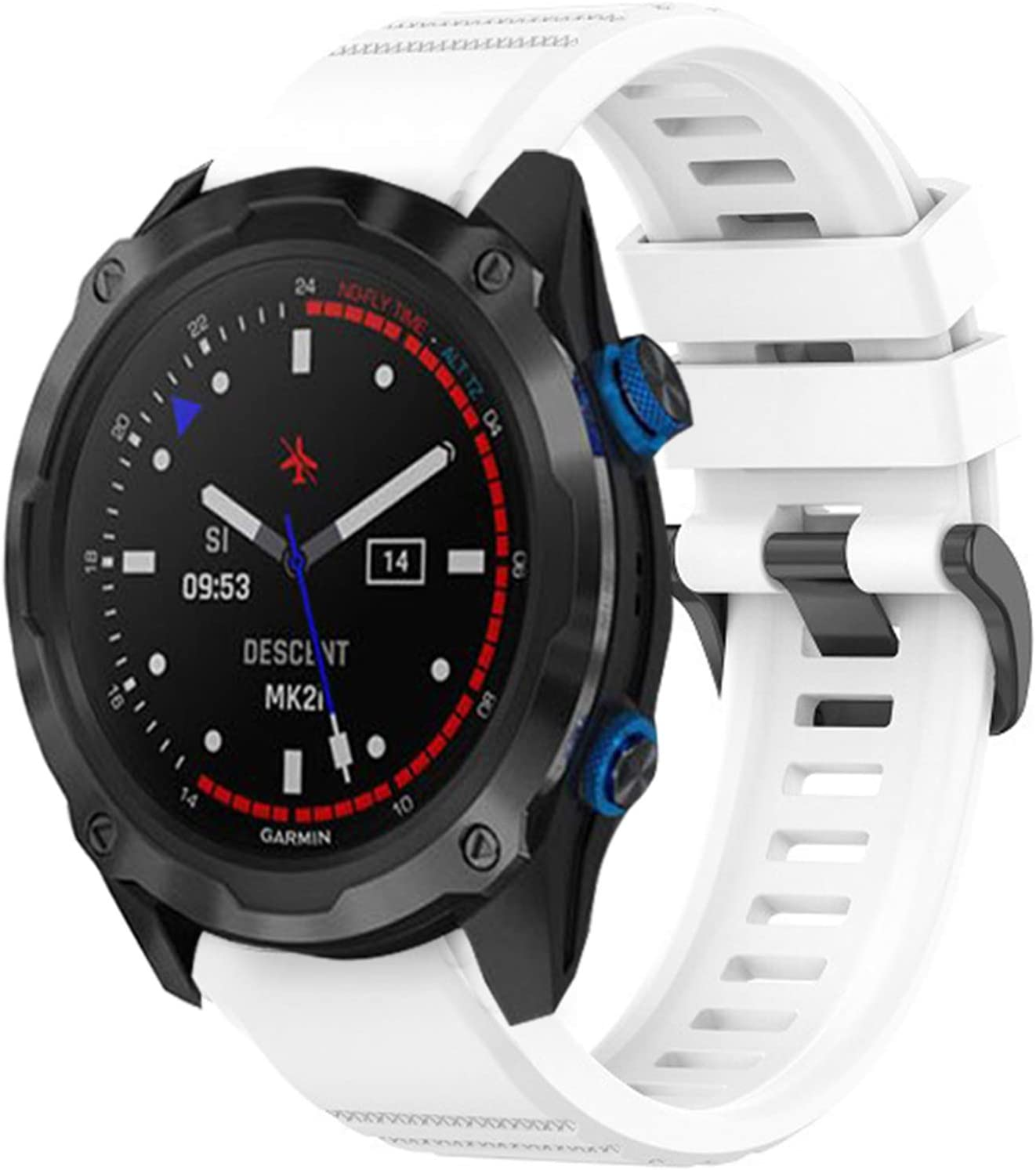 Compatible with Garmin Descent Mk2i shopping Repla Same day shipping Youkei Bands Silicone