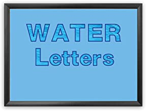 Hygloss Products Bulletin Board Letters and Numbers – Punch Out Water Design Combo – 3 Inch, 350 Pieces