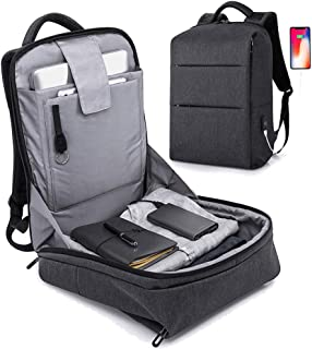 Anti Theft Laptop Backpack,Business Travel Slim Backpack with USB Charging Port, School Computer Bag for Women & Men …