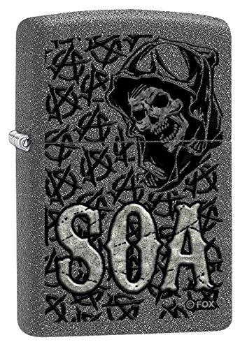 Zippo SOA - Sons of Anarchy - Iron Stone - Spring 2017 Feuerzeug, Chrom, Grau, one Size