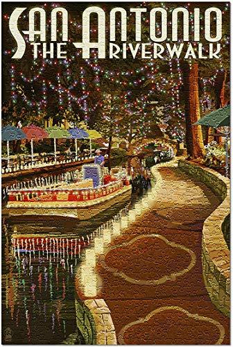 San Antonio, Texas - personalisierte Stichsäge - Die Riverwalk-Weltkarten-Stichsäge-1000 Piece 19.7In X 29.5In