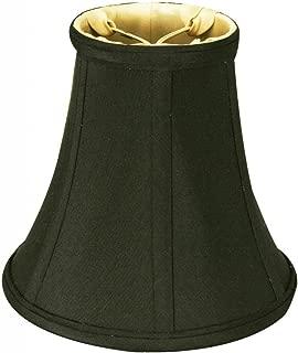 Royal Designs True Bell Lampshade, Black, 4 x 8 x 7.25 (Round Clip) (DBS-704RC-8BLK/GL)