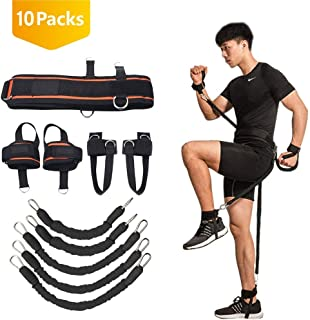 Boxing Training Resistance Band Set Leg Strength and Agility Training Strap System for Boxing, MMA, Muay Thai, Karate Combat,  Basketball, Football Build Speed and Strength for Hitting