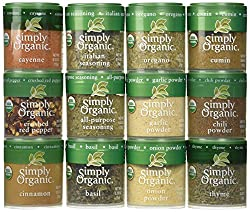 Top 12 Culinary Organic Spices USDA Certified Organic Gluten Free Excellent starter set for newlyweds, students, and house warming gifts. Perfect gift for anyone, anytime, anywhere!