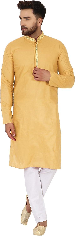 SKAVIJ Men's Cotton Kurta Cheap super special price Oakland Mall Set Evening Pajama Dress