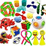ToyerBee Sensory Fidget Toys Set for Adults, Kids, ADHD, ADD, Anxiety Autism, Autistic to Stress Relief and Anti-Anxiety with Squishy, Stretchy Strings , Squeeze Balls, Perfect for Classroom Reward