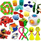 ToyerBee Sensory Fidget Toys Set for Adults, Kids, ADHD, ADD, Anxiety Autism, Autistic to Stress Relief and Anti-Anxiety with Squishy, Stretchy Strings , Squeeze Balls, , Perfect for Classroom Reward
