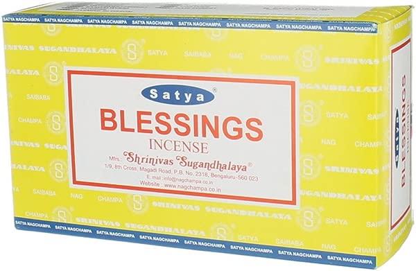 Satya Nag Champa Blessings Incense Sticks Box 12 Packs