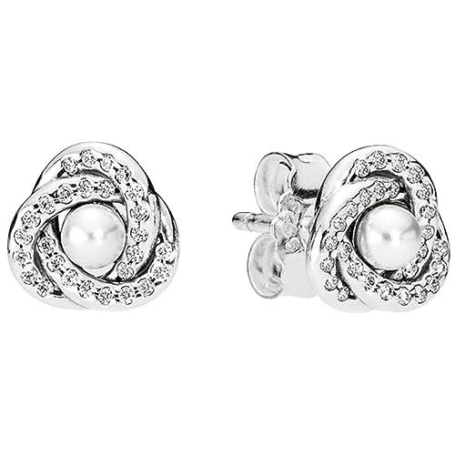 29506510d Pandora Women Silver Stud Earrings - 290740WCP