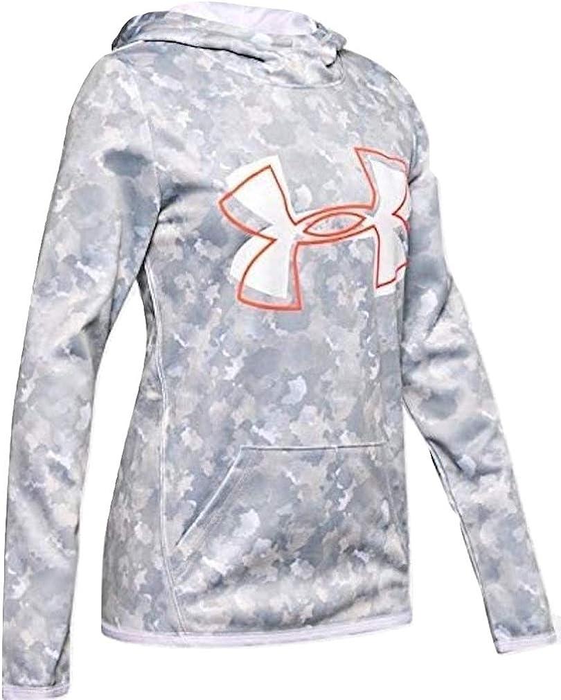 Under Armour Girls' Armour Fleece Big Logo Printed Hoodie: Clothing