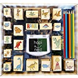 Hapinest Dinosaur Stamp and Sticker Toddler Activities Arts and Crafts Set for Boys and Girls Gifts Ages 4 5 6 7 8 9 10 Years Old