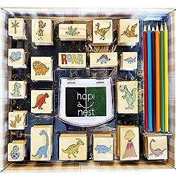 1. Hapinest Dinosaur Stamp and Sticker Toddler Activities Set