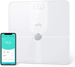 eufy Smart Scale P1 with Bluetooth, Body Fat Scale, Wireless Digital Bathroom Scale, 14 Measurements, Weight/Body Fat/BMI, Fitness Body Composition Analysis, Black/White, lbs/kg.