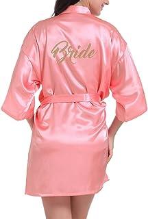 3c98caaefef JiXuan Novia de la Mujer túnica Corta túnica de Seda túnica de satén para  los Regalos