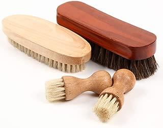 [FOOTSTEPS] 靴磨き ブラシ セット 馬毛ブラシ 豚毛 ペネトレイトブラシ セット 収納麻袋付