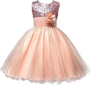 فستان حفلات لإشبينة العروس مزين بالزهور ومزين بالترتر للفتيات من M2C