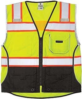 ML Kishigo - Black Series Black Bottom Class 2 Safety Vest, Size: 2X-Large, Color: Lime
