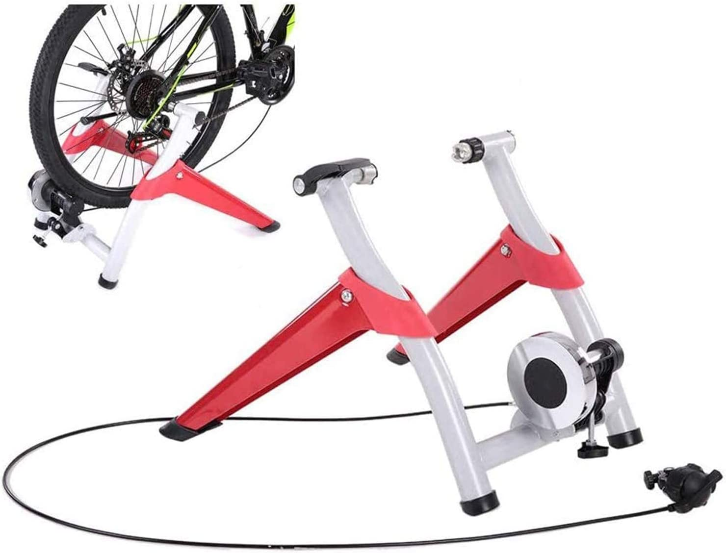 SJNQJJ Bike NEW before selling ☆ Trainer Stand 6 Ho Deluxe Indoor Foldable Levels Adjustable