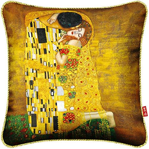 Aiyow Kussen Duizend Van Gogh Picasso Monet Olieverfschilderij Aangepaste Kunst Creatief@35X35Cm Negen Gat Katoen Core_Kiss
