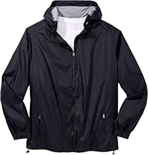 KingSize Men's Big & Tall Jersey-Lined Windbreaker