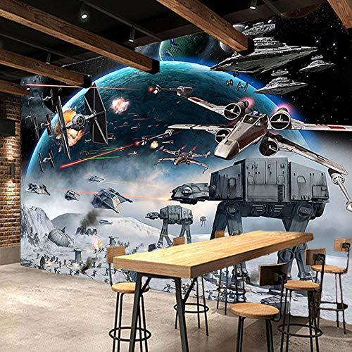 Foto Wand Tapete 3D Stereo Cartoon Schock Star Wars Tapeten Kinderzimmer Cafe Ktv Hintergrund Fototapete Für Wände 3D Papel Tapiz 350 * 245Cm
