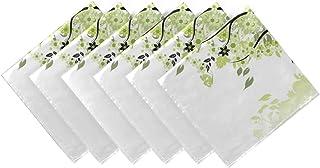 CaTaKu Serviettes de table en forme de feuille d'arbre vert Serviettes de table réutilisables lavables pour fête à la mais...