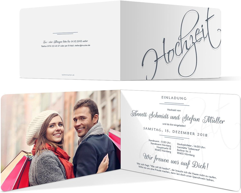 30 x Hochzeitseinladungen Hochzeitseinladungen Hochzeitseinladungen Einladungskarten Einladung Karten individuell - Hochzeit Schriftzug B07DRFPT7G   Online-verkauf  d12066