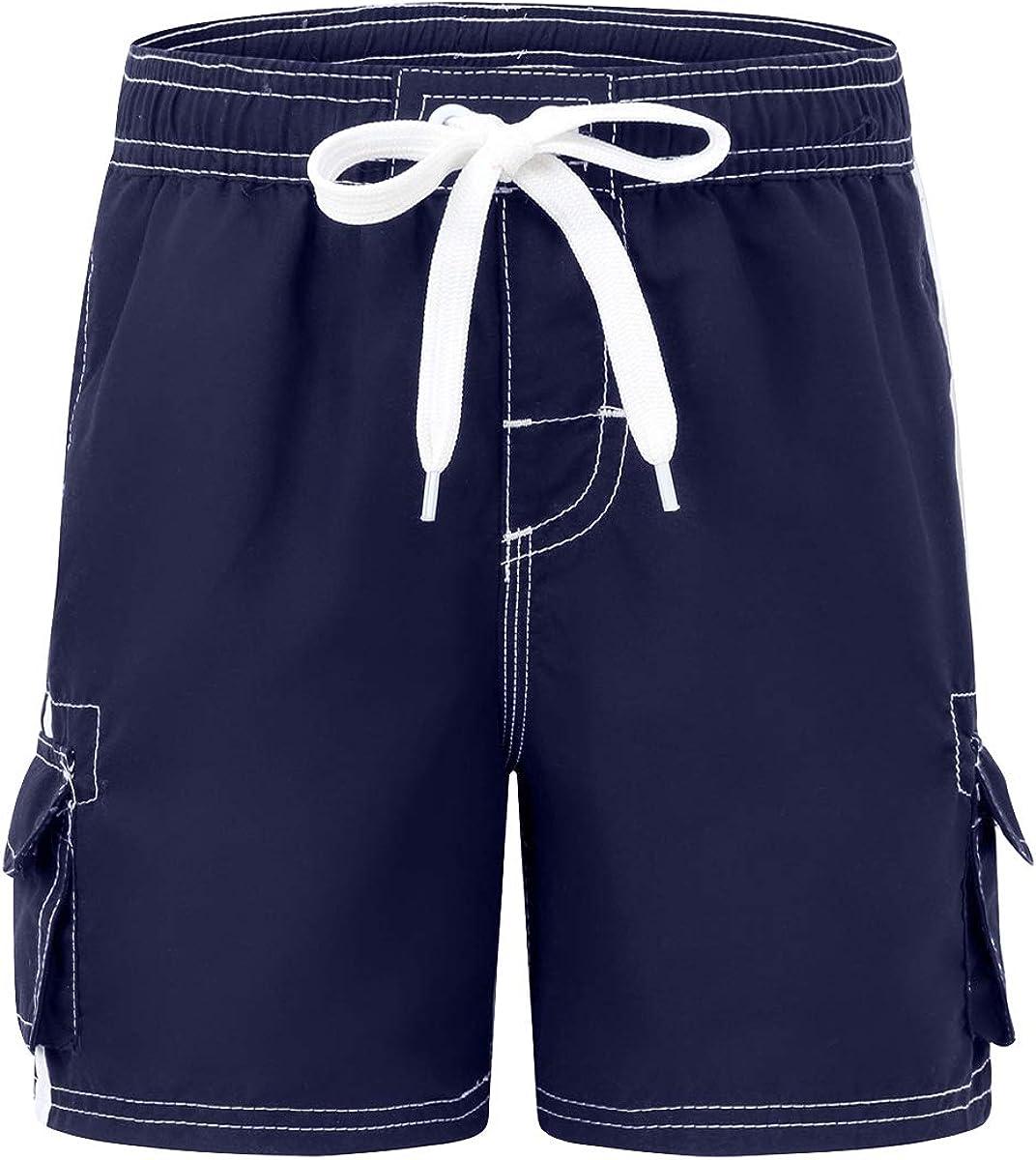 Amazon.com: Akula Boys' Quick Dry Swim Trunks Beach Board Shorts with Mesh  Lining: Clothing