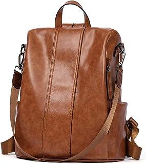 BROMEN Women Backpack Purse Leather Anti-theft Backpack Fashion Travel Daypack Shoulder Handbag