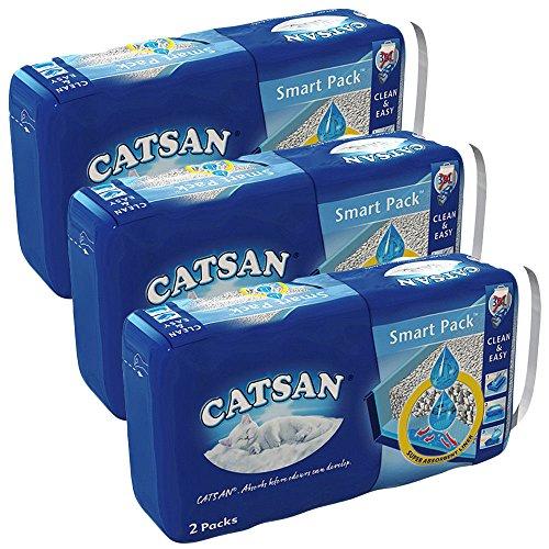 Catsan Hygiene Smart Pack Katzenstreu, 6 Packungen (6 x 4l)