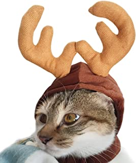 Wildforlife Halloween Pet Cute Reindeer Costume Hat for Cat and Small Dog