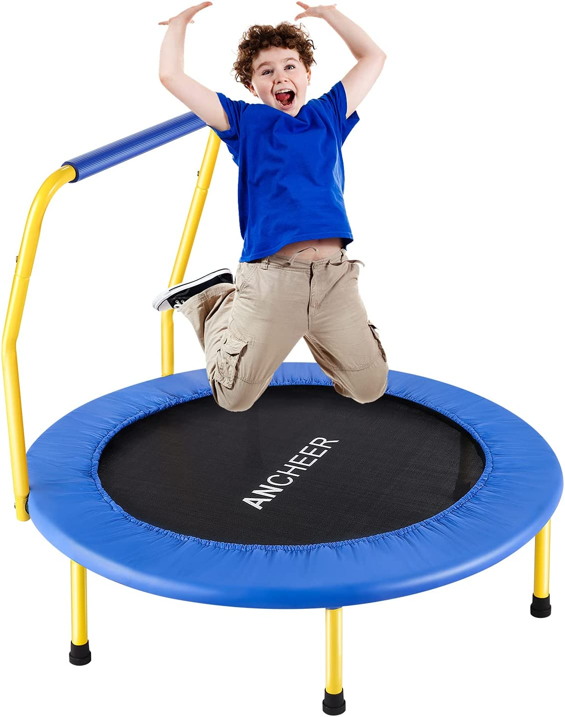 ANCHEER Kids Trampoline with Safely Mini Handrail Colorado Springs Mall T Now free shipping 36'' Outdoor
