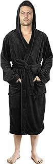 NY Threads Luxury Men's Dressing Gown | Super Soft Fleece Men Bath Robe | Cozy Hooded Plush Loungewear and Nightwear